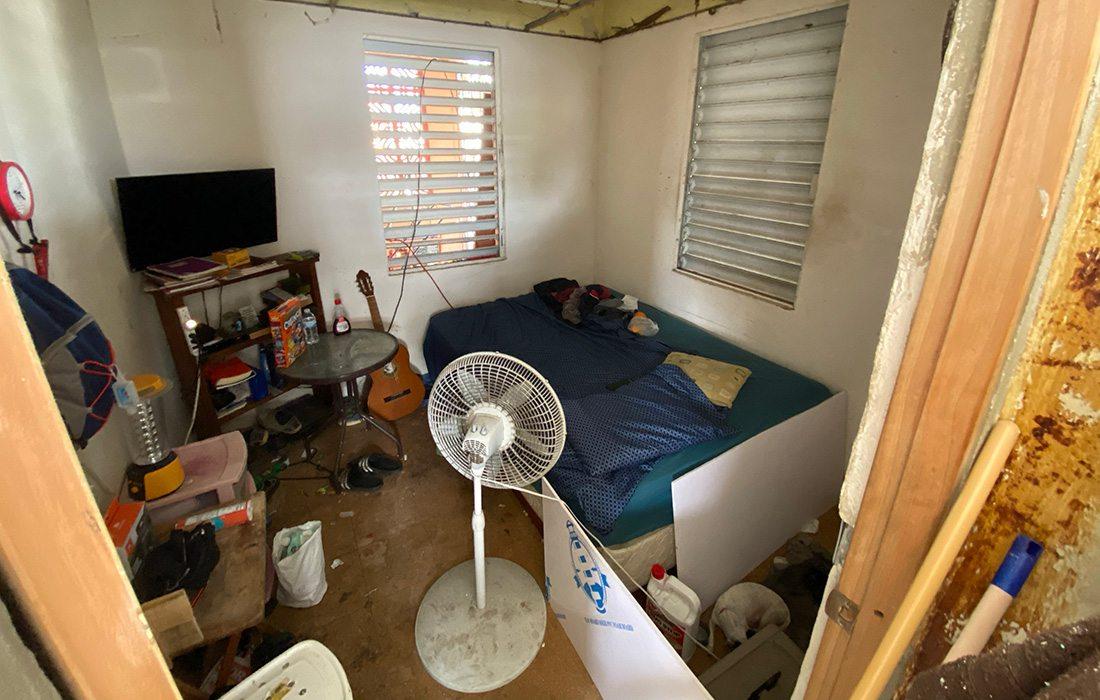 Juanito Borques' home before