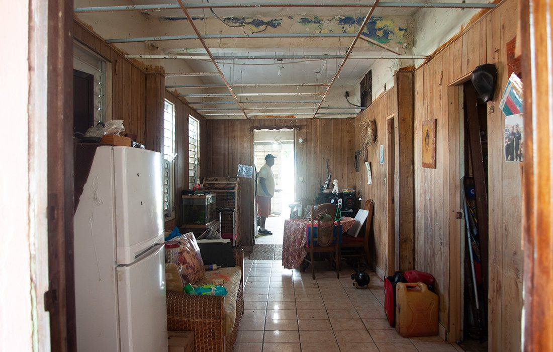 Juanito Borques' home before