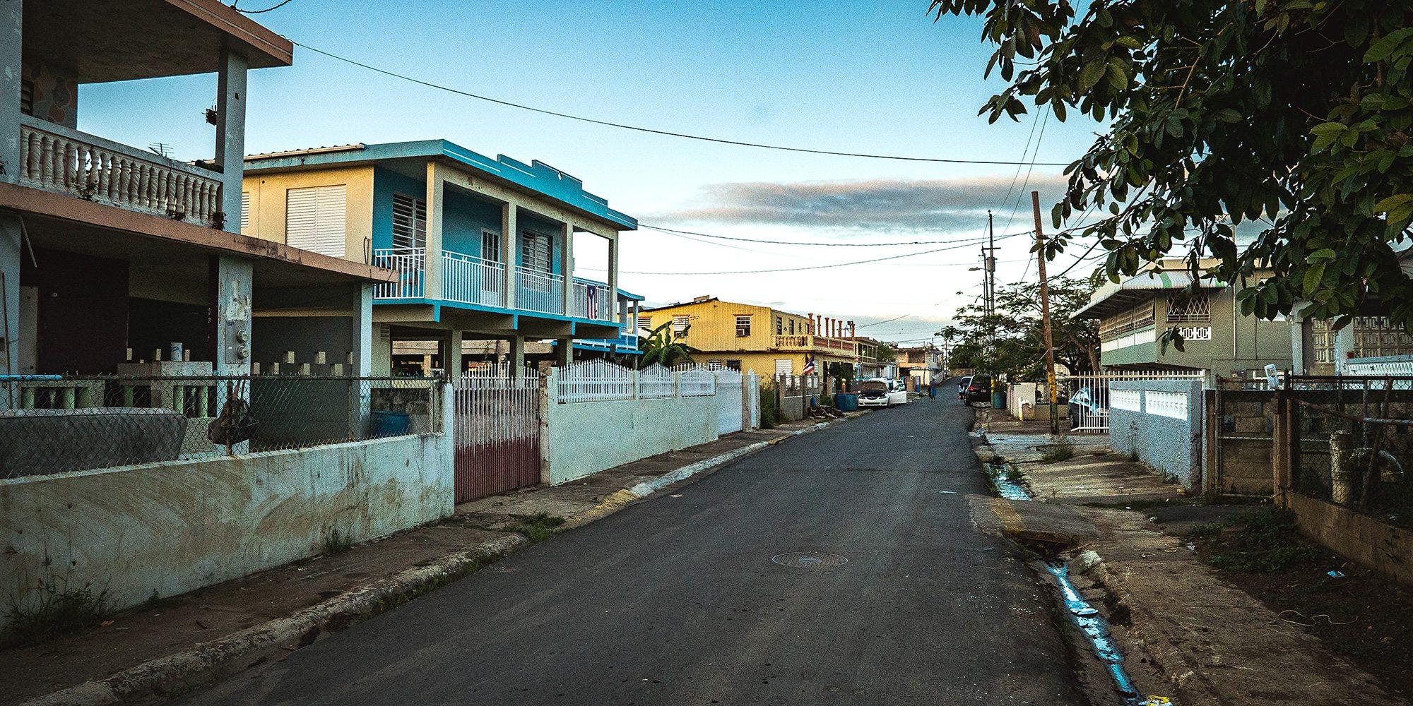 Residential street in Puerto Rico
