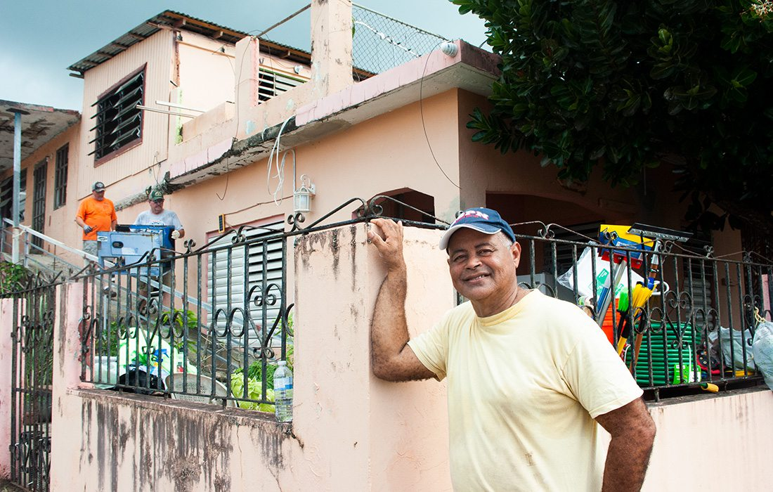Juanito Borques' and his home before the makeover