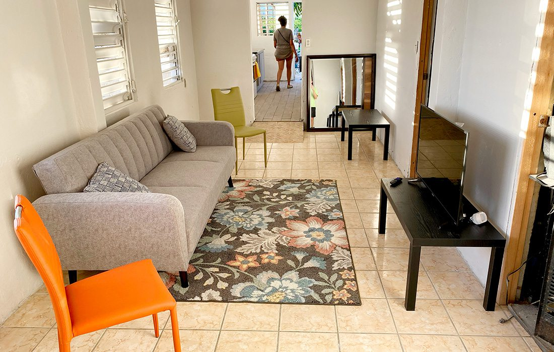 Juanito Borques' home after