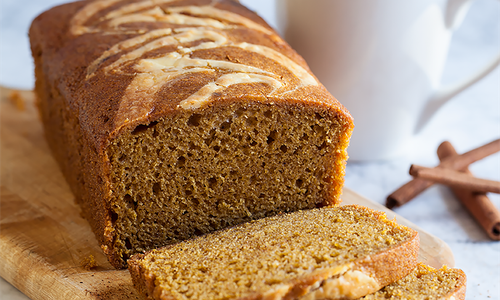 Pumpkin Swirl Sweet Bread