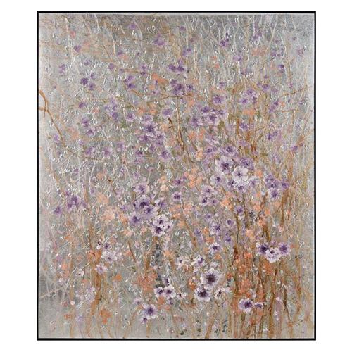 Purple Trend - Teng Fei Silver Field painting