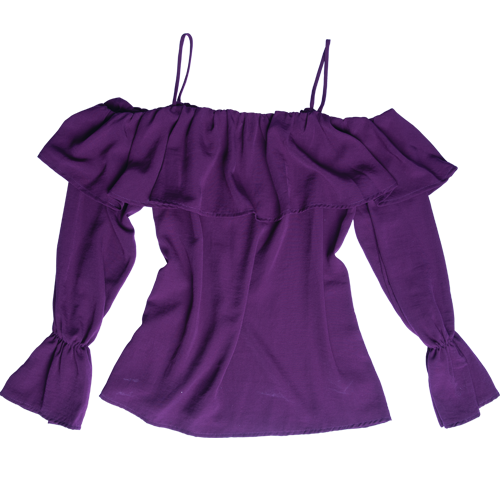 Purple Trend - First Love flounce top