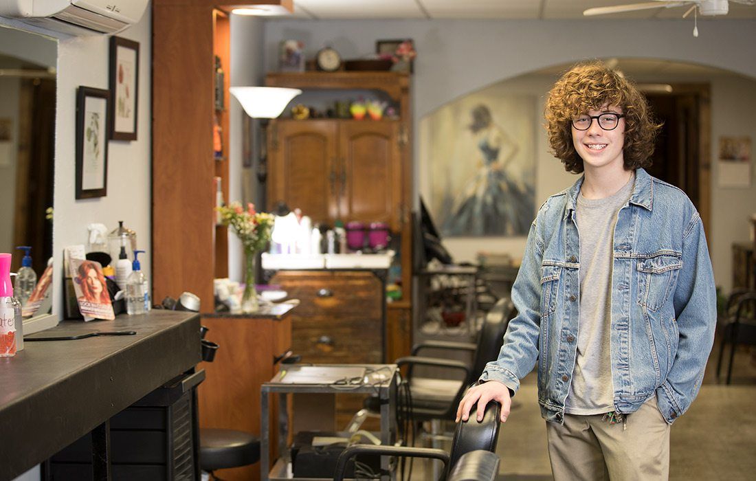 Gabriel Crouch, Owner of Blades and Shades Salon/Spa