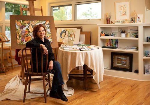 Karen W. Schneider in her Springfield MO studio
