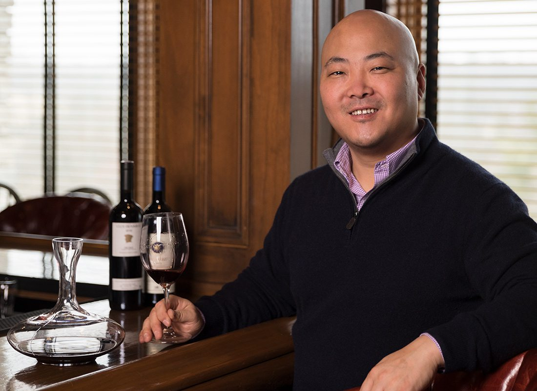 Michael Cho, Level 2 sommelier, at Hickory Hills Country Club