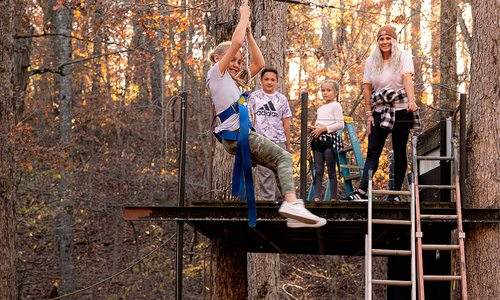 Family Zipline at Quarantine Cabin