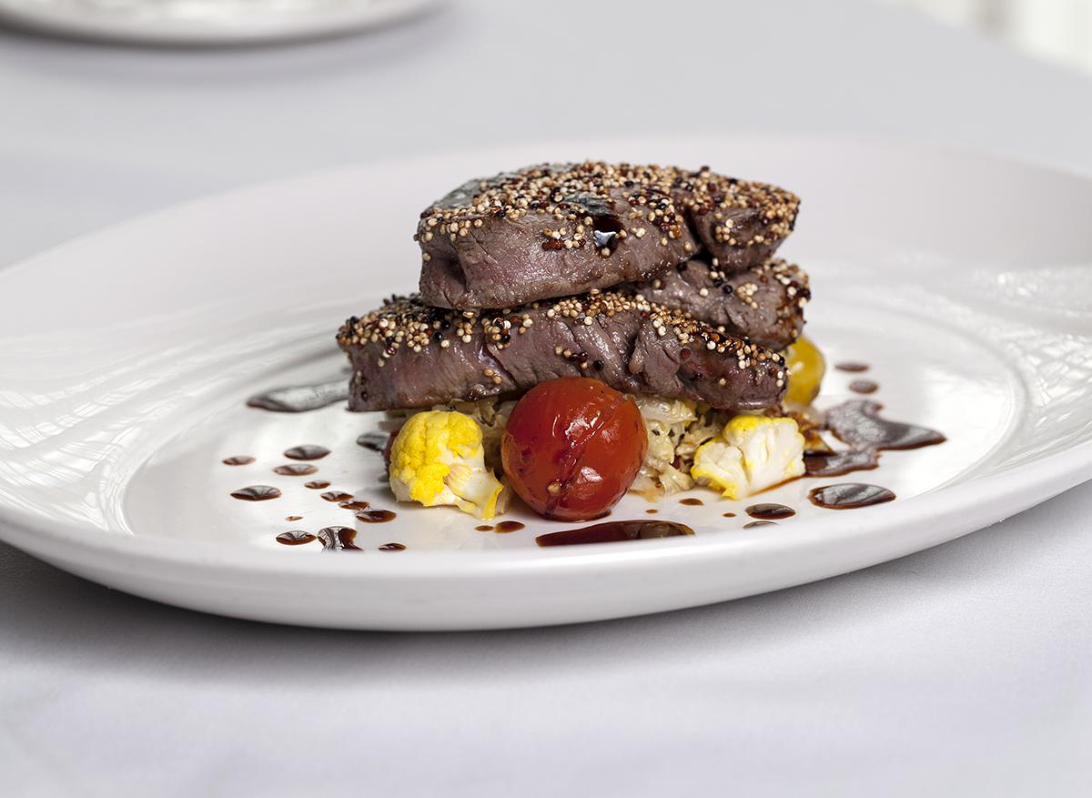 Quinoa-Encrusted Medallions of Beef Tenderloin