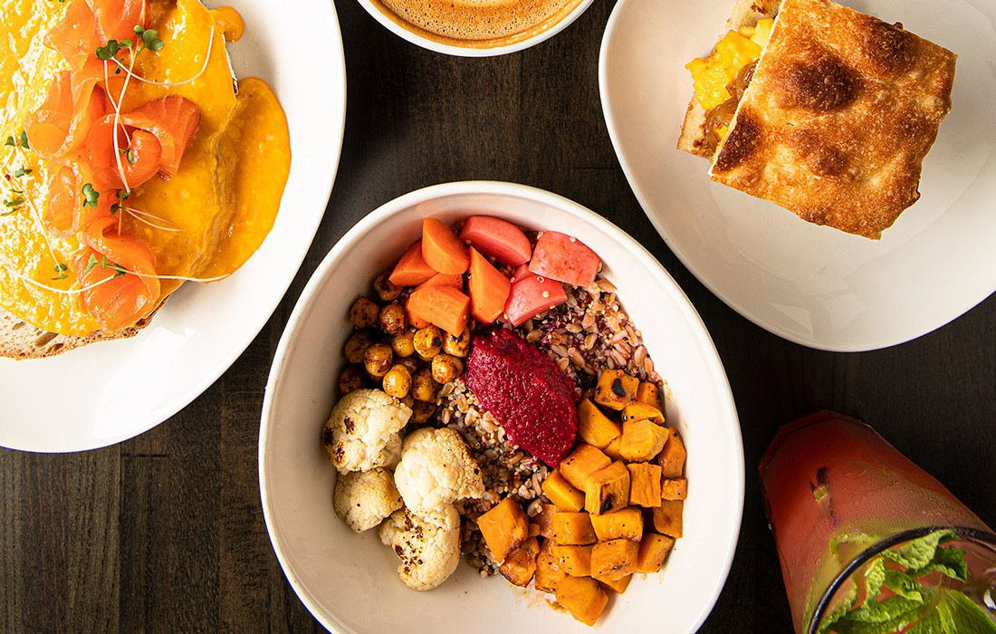 Breakfast dishes at RISE