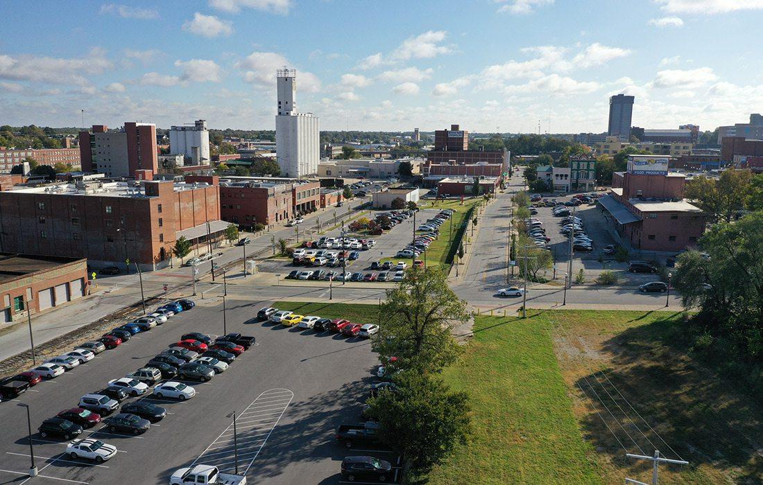 Springfield aerial photo