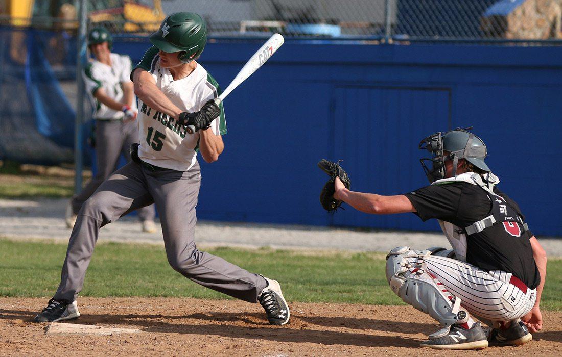 Rafe Darter playing baseball