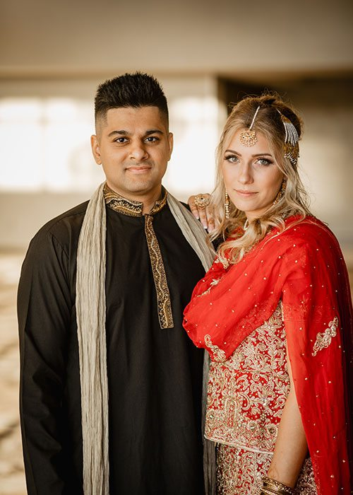 Shayan Cannefax & Jordan Duncan on their wedding day at the DoubleTree by Hilton in Springfield, MO