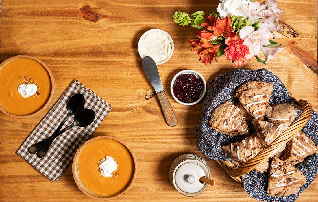 Chai soup and chai date buttermilk scones