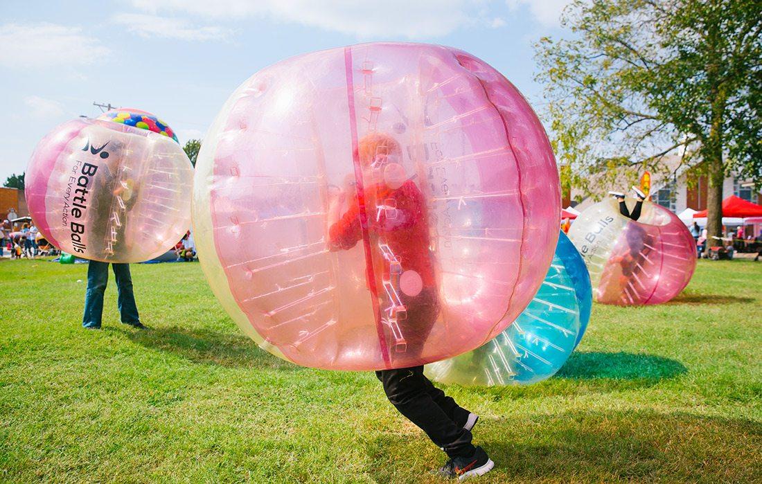 Bubble races at fall festival