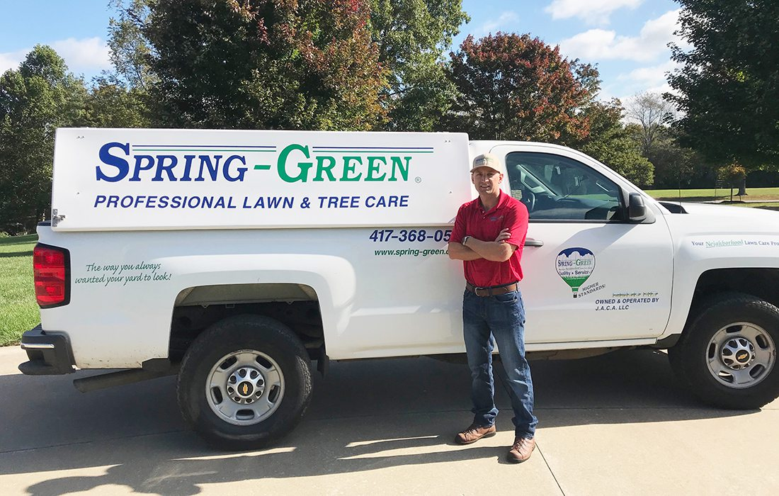 Jonathan Thurman of Spring-Green Lawn Care and Trimworks Lawncare & Irrigation Springfield MO