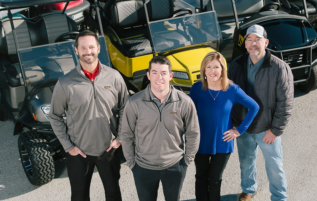 Brian Cheever, Justin Fraker, Ann Mezo and Dewayne Joy of Clear Creek Golf Car and Utility Vehicles in Springfield MO