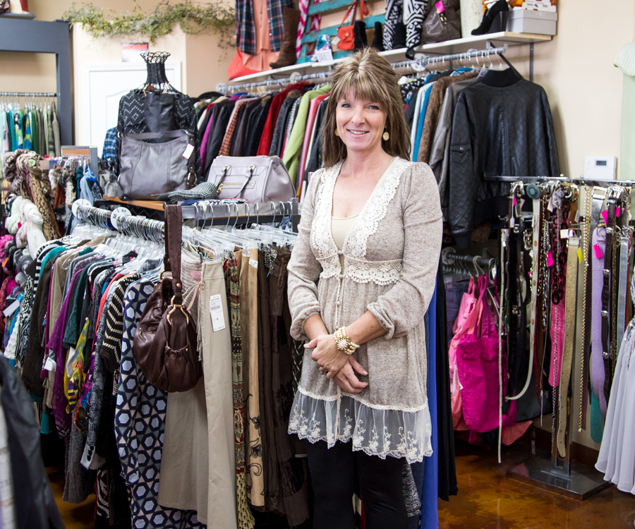 Misha Watts, owner of Just 4 You Resale & Consignment Shop.