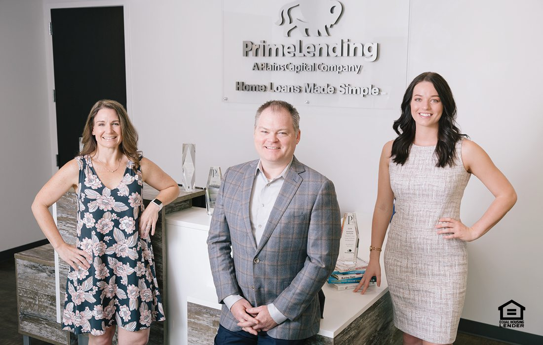 Becky Wilson, Andrew Semple and Samantha Clark of PrimeLending in Springfield MO