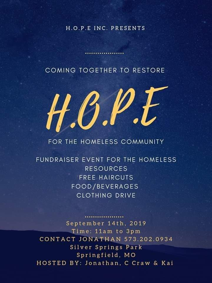 Homeless community outreach in Springfield, MO