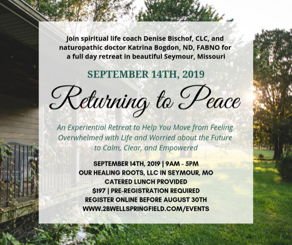 Returning to Peace Retreat in Seymour, MO.