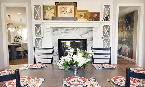 Dining room design by Rhoads Design & Construction in Springfield MO