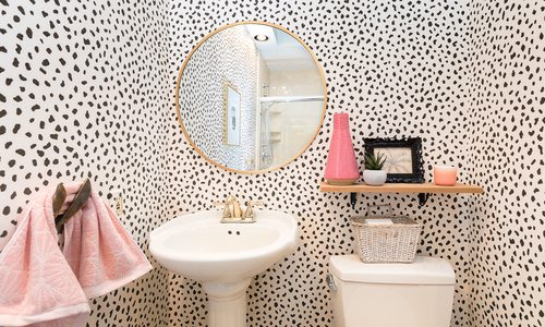 The Wallpaper that Transforms Powder Bathrooms