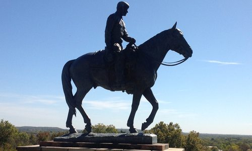 Will Rogers on horseback statue