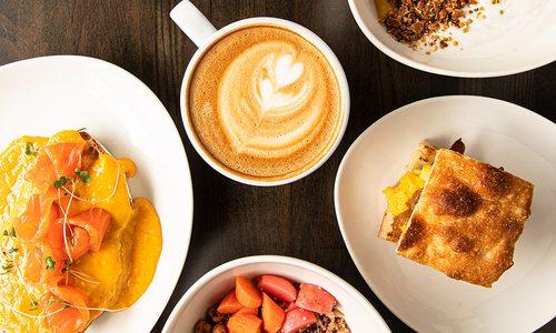 Spread of breakfast from RISE