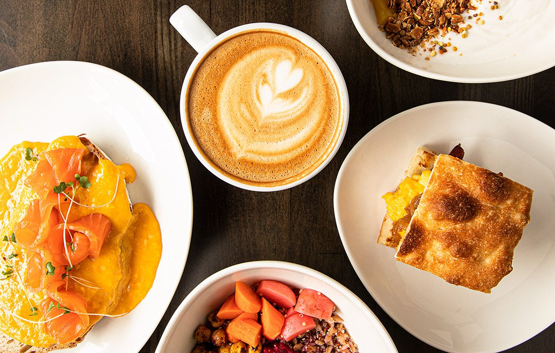 Breakfast spread at RISE