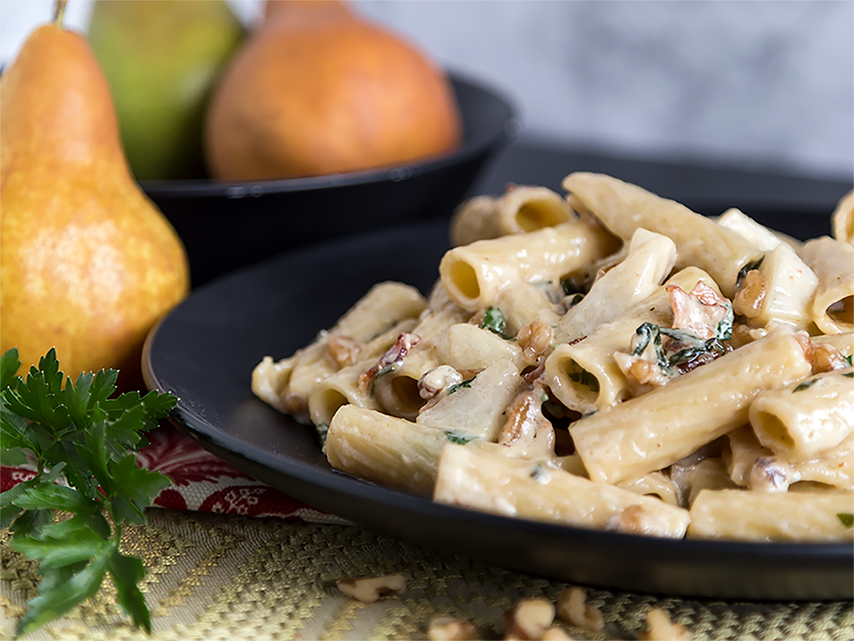 Rigatoni with Pears