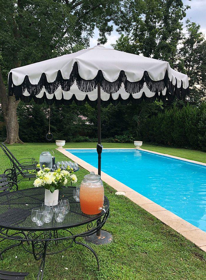 Julie Blackmon's backyard pool