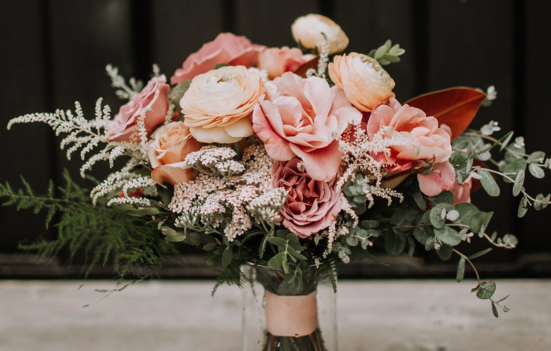 Shai Voelker's wedding bouquet