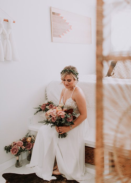 Shai Voelker on her wedding day