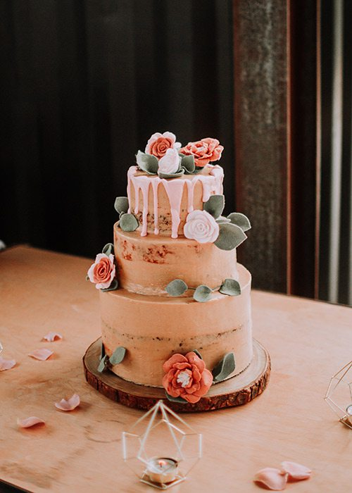 Ryan Kopas & Shai Voelker's wedding cake