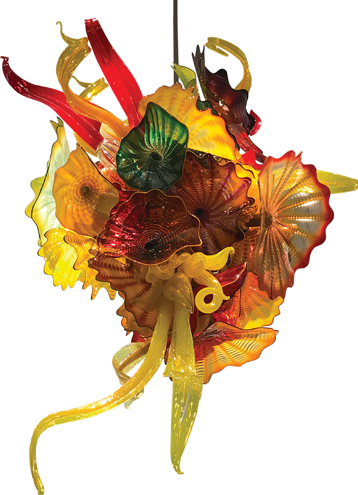 Springfield Art Museum Chihuly chandelier
