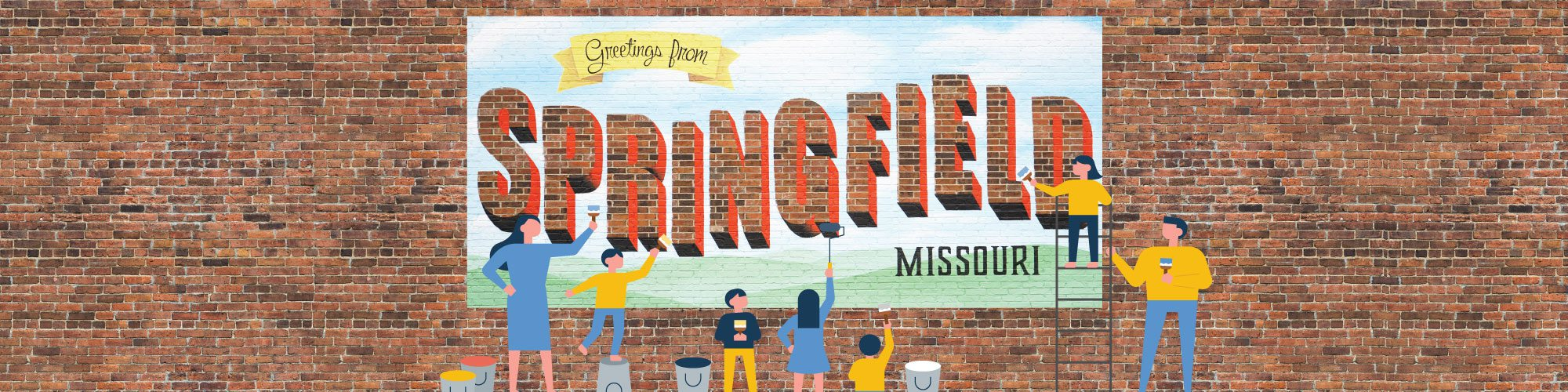 Greetings from Springfield Missouri mural