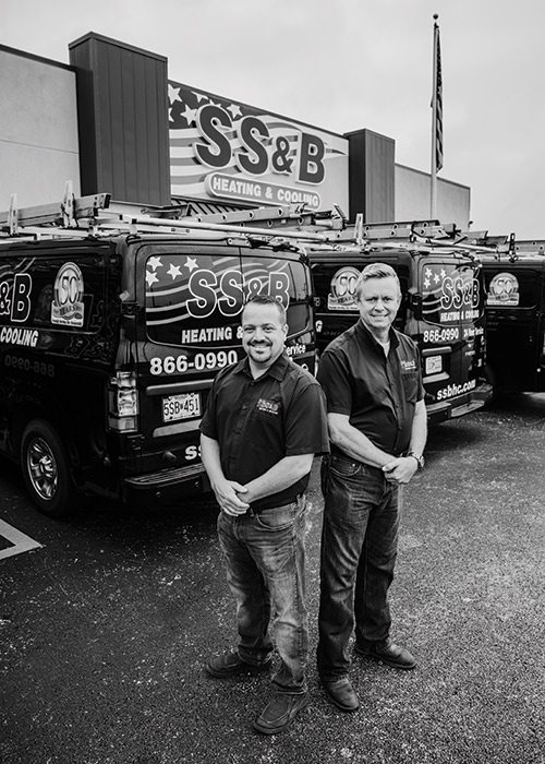 Jeremy Grisham, Brad Searcy of SS&B Heating & Cooling