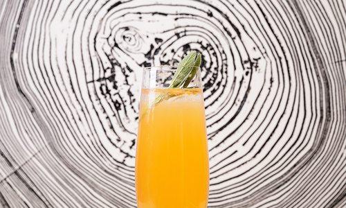 Sage Grapefruit Champagne Cocktail