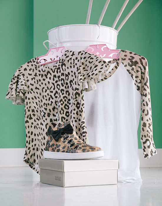 Leopard print shirts and shoes for girls at Jade Tank in Springfield MO