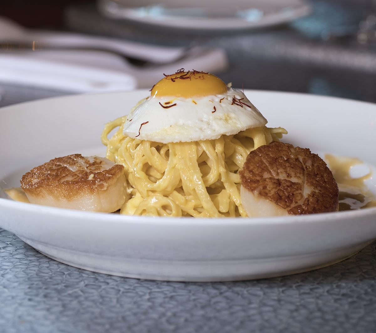Scallop Pasta by Chef Mike Jalili.