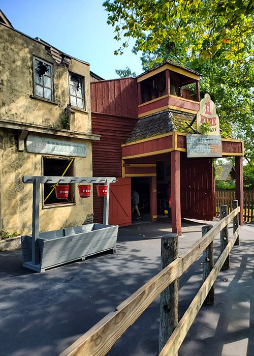 Exterior of Fire in the Hole ride at Silver Dollar City in Branson MO