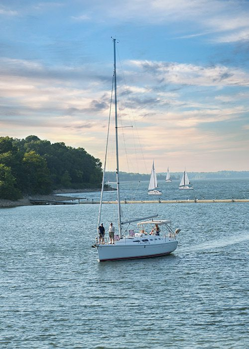 Sailboat on Stockton Lake in Missouri