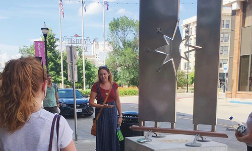 Nicole Brown gives a tour of Sculpture Walk Springfield