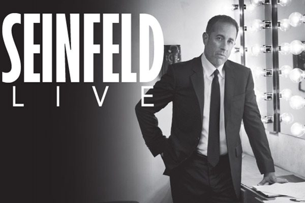 Jerry Seinfeld Live tour banner