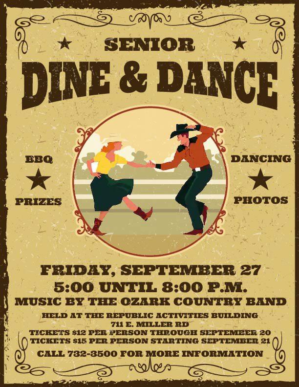 Senior dine and dance in Republic, MO