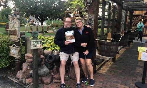 """Ed and Laurie Keady enjoyed a family trip to Pirate's Cove in Sister Bay, Wisconsin, with their """"Welcome to 417 Land"""" issue."""