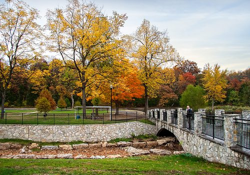 Sequiota Park in Springfield MO during fall