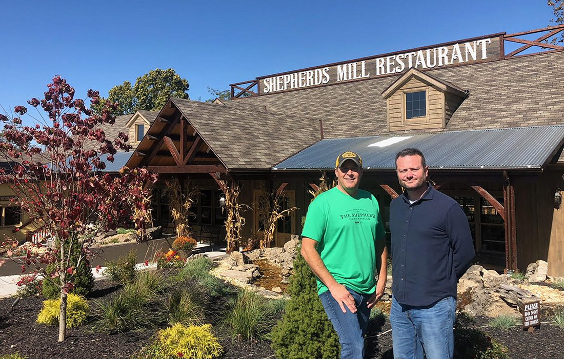 Jeff Johnson and Steve Faria at Shepherd of the Hills