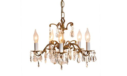 Isolated chandelier product photo.